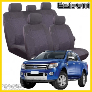 Ford Ranger PX1 Seat Covers Grey Esteem