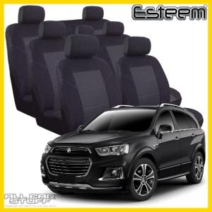 Holden Captiva Seat Covers Black Esteem