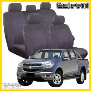 Holden Colorado Seat Covers Grey Esteem